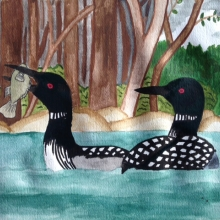 Two Loons in the Water