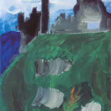 The castle was painted after a trip to Ireland with his family.